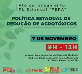 ASSEMBLEIA VAI DEBATER A POLÍTICA DE REDUÇÃO DE AGROTÓXICOS