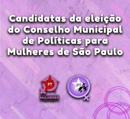 Participe da Eleição do Conselho Municipal de Mulheres que ocorre no domingo (27/10)