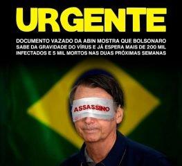 Projeção da Abin é de 5.571 mortes no Brasil até 6 de abril