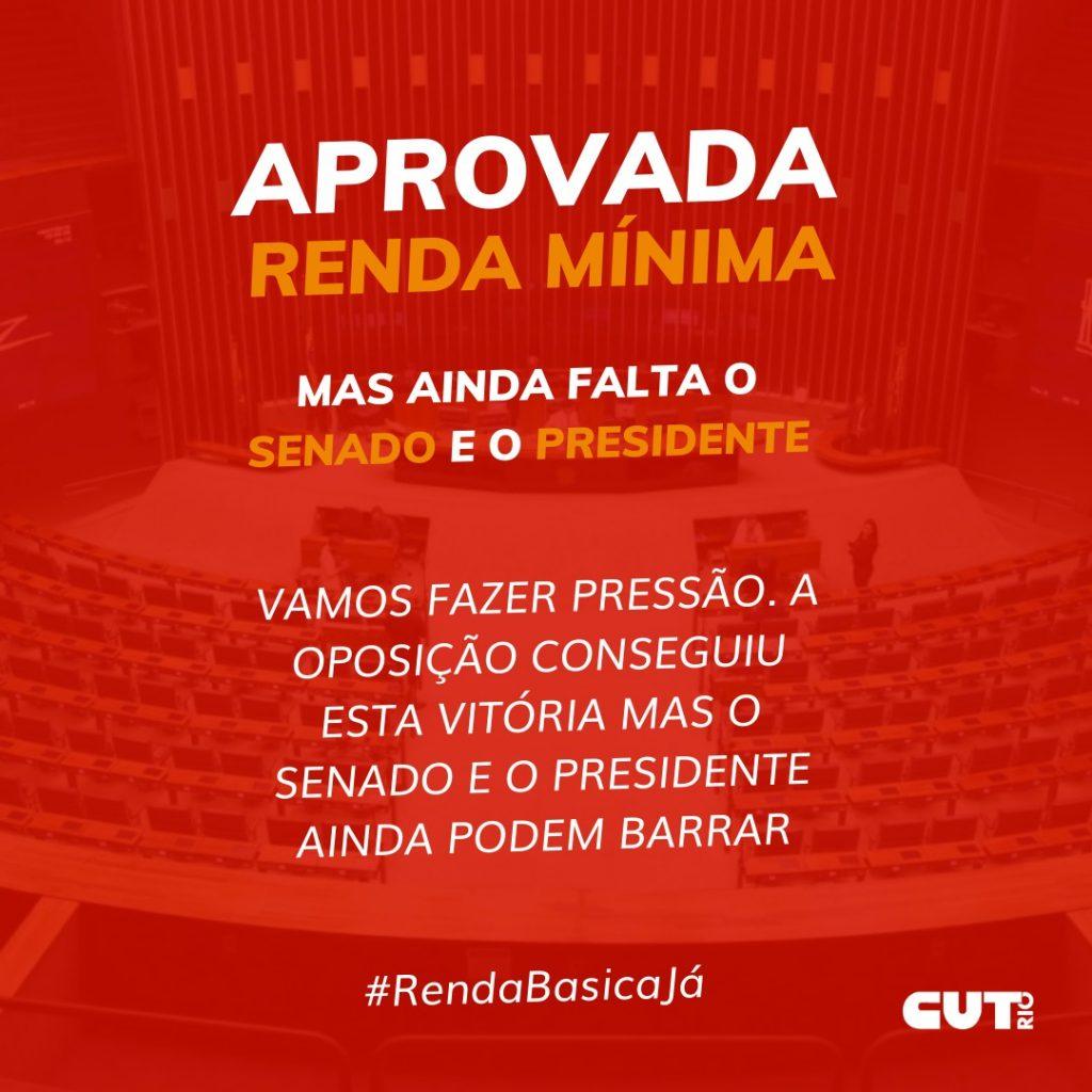 AUXÍLIO EMERGENCIAL DEPENDE AINDA DO SENADO E DE SANÇÃO PRESIDENCIAL