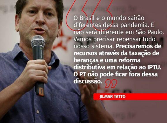 PT ESCOLHE JILMAR TATTO CANDIDATO À PREFEITURA DA CAPITAL DE SP