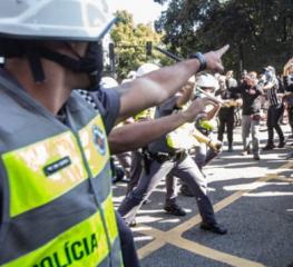 Petistas cobram isenção da PM nas manifestações em defesa da democracia