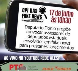Reunião da CPI das Fake News acontece nesta sexta-feira, 17/7