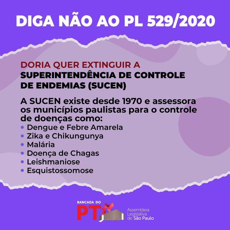 COM EXTINÇÃO DA SUCEN, DORIA AMEAÇA A SAÚDE DA POPULAÇÃO PAULISTA