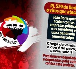 CUT lança campanha para pressionar deputados contra o projeto de Doria