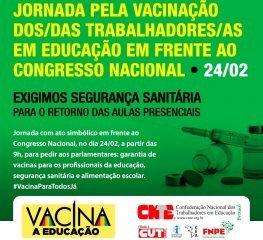 Jornada Nacional Vacina para todos será realizada no dia 24 de fevereiro