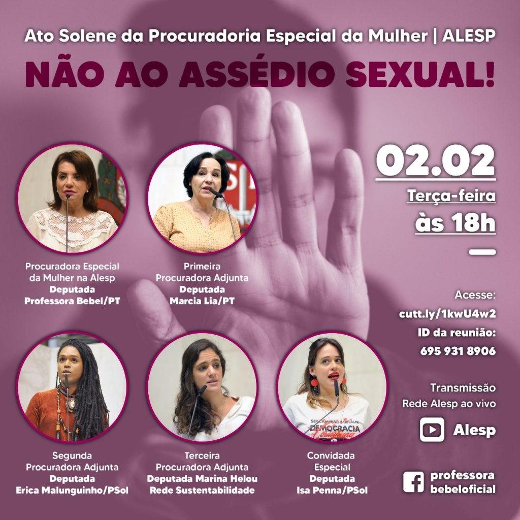 Não ao assédio sexual!
