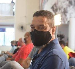 O deputado Barba acompanhou a entrevista de Lula em SBC